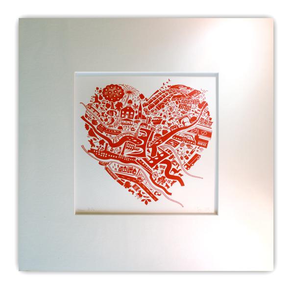 LOVE NEW MILLS - limited edition letterpress print